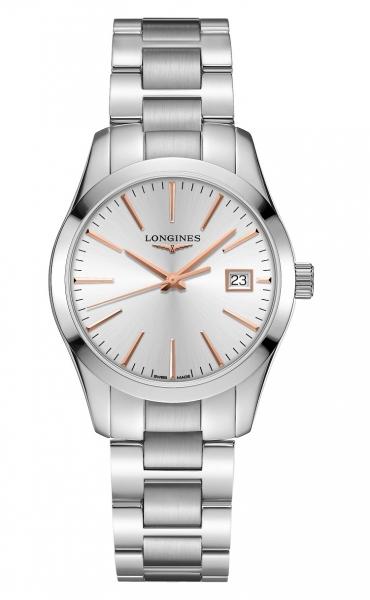 Longines Conquest Classic Lady Damenuhr Zifferblatt silber 34mm Edelstahl-Armband L2.386.4.72.6 zum günstigen Preis online kaufen | UHREN01