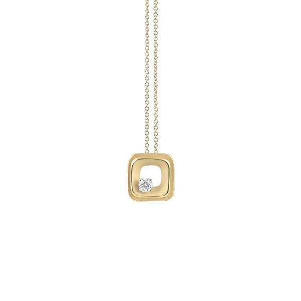 Annamaria Cammilli 750er Gelb Gold Damen Halskette DUNE mit 1 Diamant 0,15ct im Brillant-Schliff GPE2426U