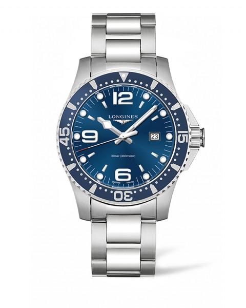 Longines HydroConquest 44mm blau Quarz Herren-Uhr Edelstahl-Armband L3.840.4.96.6 zum günstigen Preis online kaufen | UHREN01