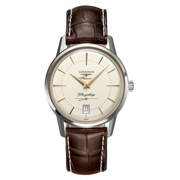 Longines Flagship Heritage Automatic Leder-Armband Herrenuhr L4.795.4.78.2