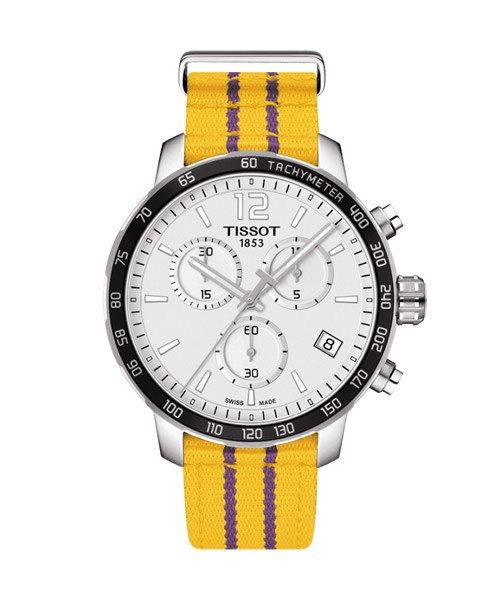 Tissot Quickster LA Lakers Special Edition Nato-Armband gelb T095.417.17.037.05