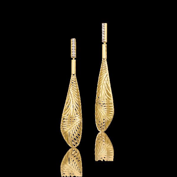 Luisa Rosas Ohrringe Gold mit Diamanten Tribe LRTR075