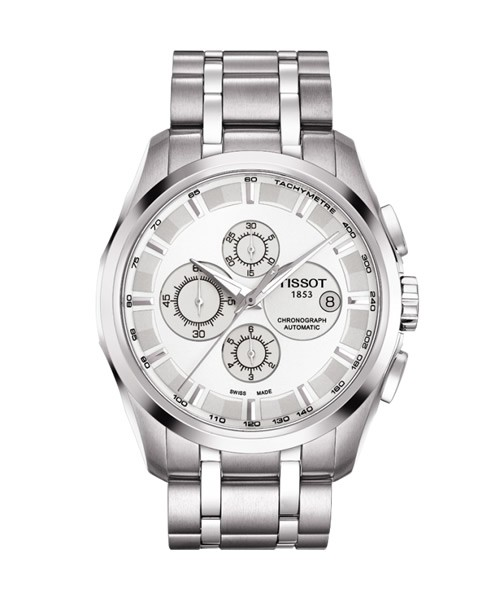 Tissot Couturier Automatic Chronograph Herren 43mm silber Edelstahl-Armband T035.627.11.031.00