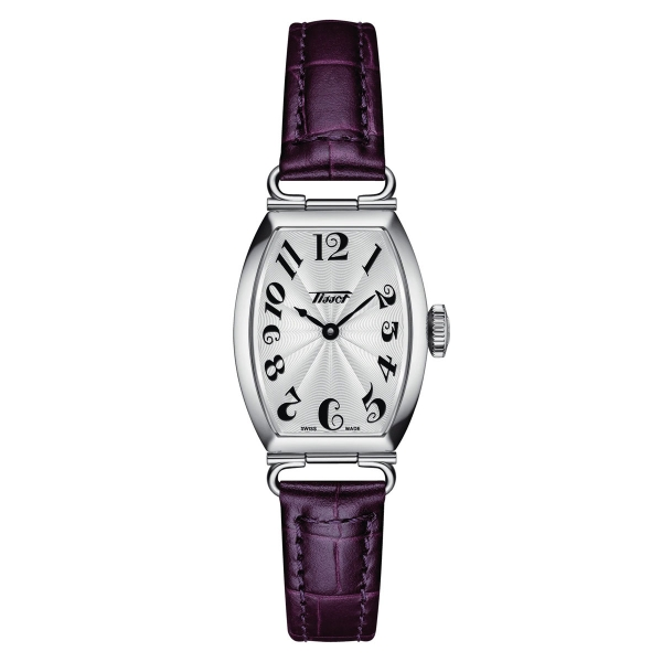 Tissot Heritage Porto Small Lady Damenuhr Silber Lila Leder-Armband Quarz T128.109.16.032.00