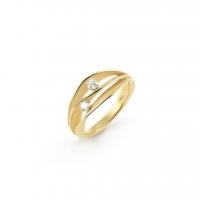 Annamaria Cammilli Ring DUNE aus 750er Gelbgold mit 2 Brillanten GAN1941U
