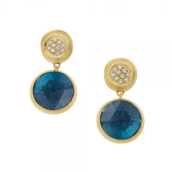 Marco Bicego Ohrringe Gold mit London Topas & Diamanten Jaipur Color OB1082-B TPL01 Y