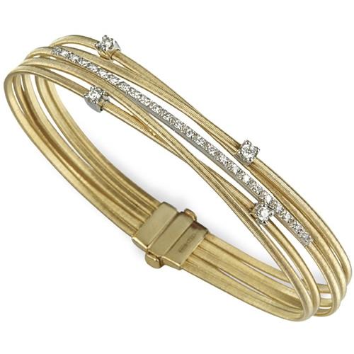 Marco Bicego Armband Goa Gold mit Diamanten 5 Stränge BG618 B2 YW