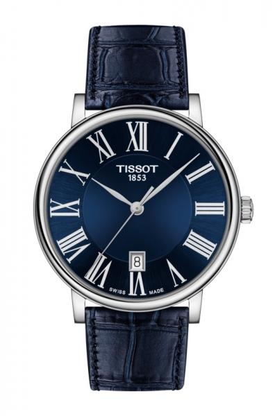 Tissot Carson Premium Herren-Uhr Blau 40mm mit Lederarmband T122.410.16.043.00 zum günstigen Preis online kaufen | UHREN01