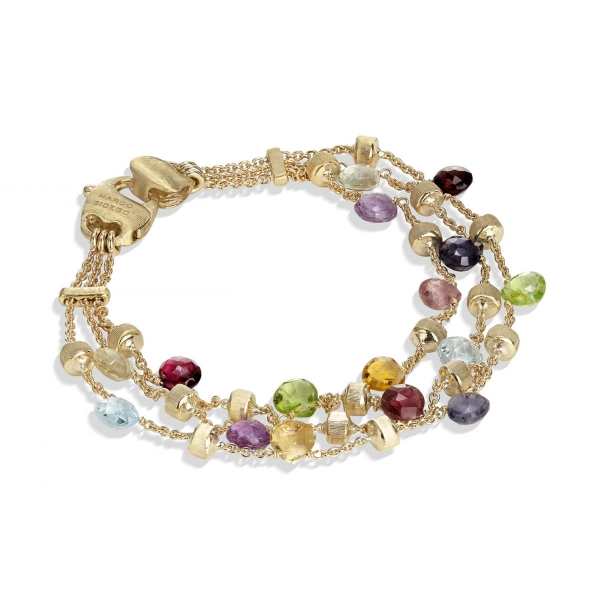 Marco Bicego Armband Gold & Edelsteine 3 Stränge Paradise BB954 MIX01 Y