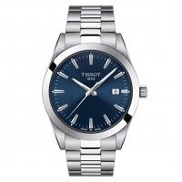 Tissot Gentleman Quartz Herrenuhr Edelstahl-Armband Silber & Zifferblatt Blau 40mm T127.410.11.041.00   UHREN01