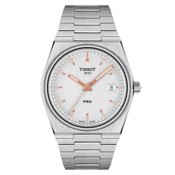 Tissot PRX Herrenuhr 40mm Quarz Silber Grau Edelstahl-Armband T137.410.11.031.00