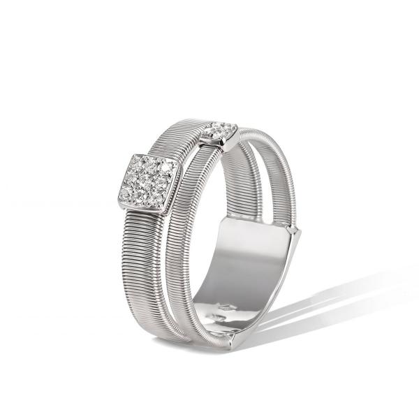 Marco Bicego Ring Weißgold mit Diamanten Pavés Masai AG324 B2 W