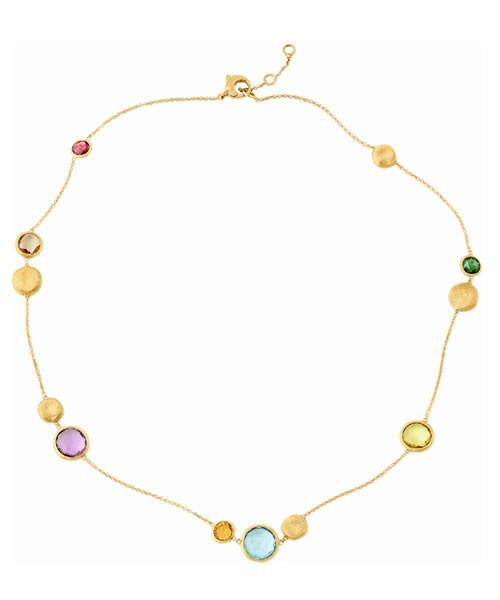 Marco Bicego Jaipur Halskette aus 18kt Gelbgold mit Edelsteinen und Goldperlen CB1485 MIX01