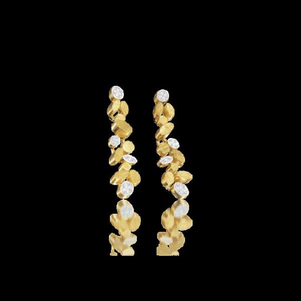 Luisa Rosas Ohrringe M Gold mit Diamanten BE LRBE019