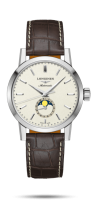 The Longines 1832 Herrenuhr Mondphase Automatic 40mm Alligator Leder-Armband braun L4.826.4.92.2 | UHREN01