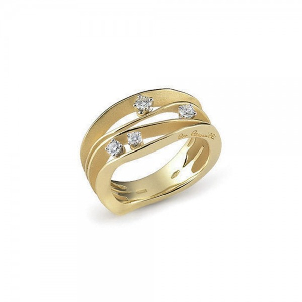 Annamaria Cammilli Ring DUNE Yellow Sunrise Gelbgold mit 4 Diamanten GAN0778U