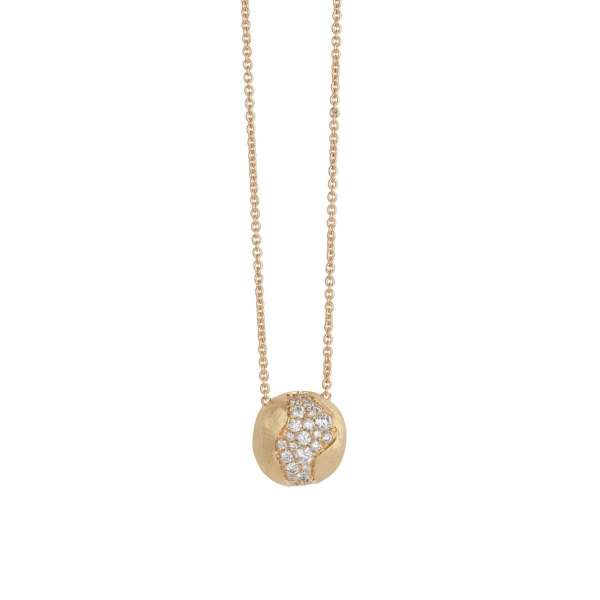 Marco Bicego Kette & Anhänger Diamanten Pavé Gold 18 Karat Africa CB2291 B Y