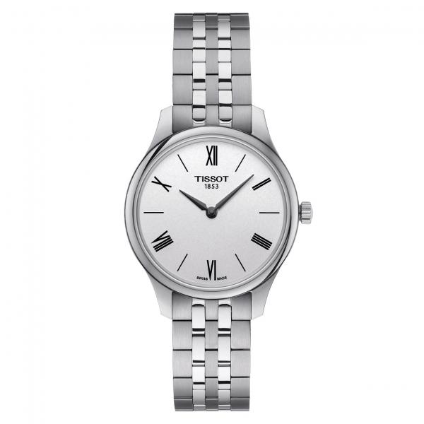 Tissot Tradition 5.5 Lady Quarz Damenuhr Edelstahl-armband Silber 25mm T063.209.11.038.00 | UHREN01