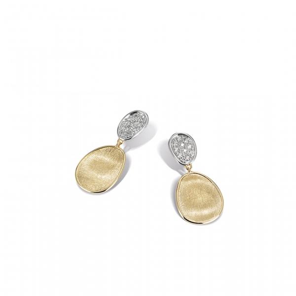 Marco Bicego Ohrringe Lunaria mit Diamant Pavé Besatz OB1751-B-YW