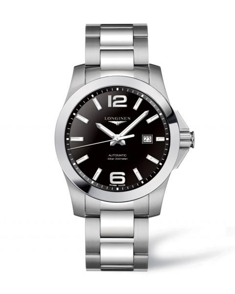 Longines Conquest Automatic 43mm Herrenuhr Edelstahl Zifferblatt schwarz L3.778.4.58.6 zum günstigen Preis online kaufen | UHREN01