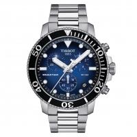 Tissot Seastar Chronograph 45mm Schwarz Blau Edelstahl-Armband Quarz T120.417.11.041.01