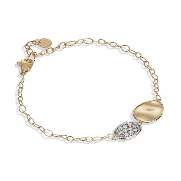Marco Bicego Armband mit Diamanten Pavé Gold 18 Karat Lunaria BB1965 B YW