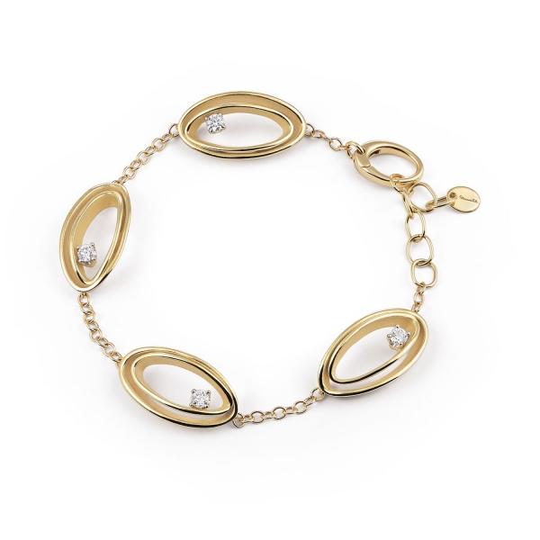 Annamaria Cammilli Serie Uno Armband Gold mit Diamanten Yellow Sunrise GBR2787U