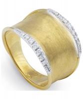 Marco Bicego Lunaria Ring mit Diamanten Gold 18 Karat AB550-B-Y