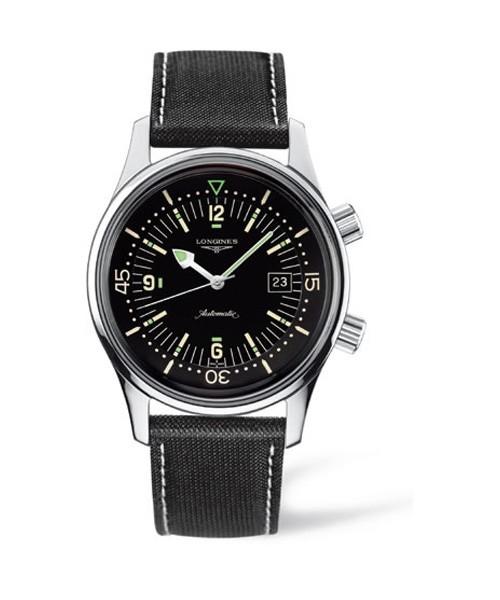 Longines Legend Diver Herren Taucheruhr Automatic 42mm schwarz lackiert L3.774.4.50.0 | UHREN01