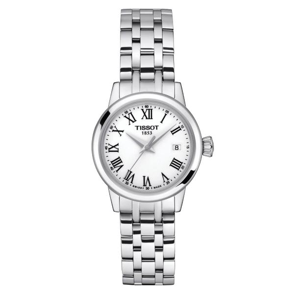 Tissot Classic Dream Damenuhr Weiß Edelstahl-Armband Quarz 28 mm T129.210.11.013.00