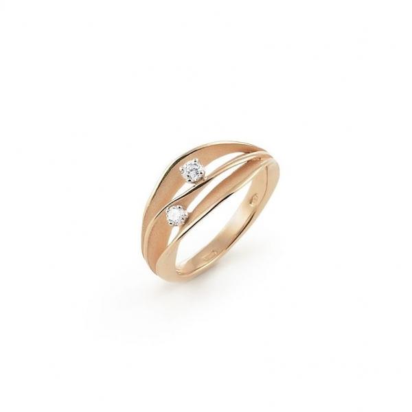 Annamaria Cammilli Ring Dune Orange Apricot Gold mit zwei Diamanten GAN1941J