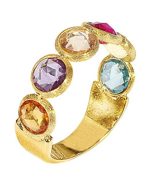 Marco Bicego Jaipur Ring AB461-MIX01 mit 6 bunten Edelsteinen