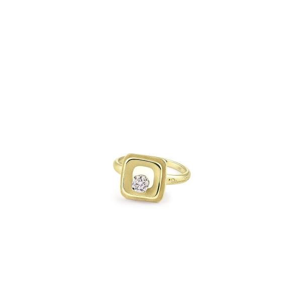 Annamaria Cammilli Ring Lemon Bamboo Gold 18 Karat Goldring mit Diamanten My Way GAN2668Y | UHREN01