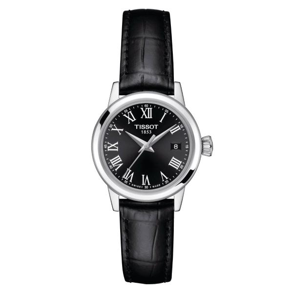 Tissot Classic Dream Damenuhr Schwarz Leder-Armband Quarz 28 mm T129.210.16.053.00