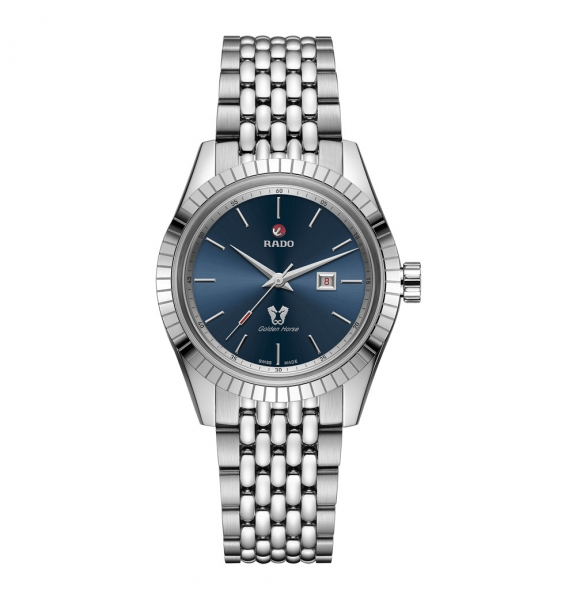 Rado HyperChrome Classic Automatic Damenuhr 35mm Blau Edelstahl-Armband R33103203