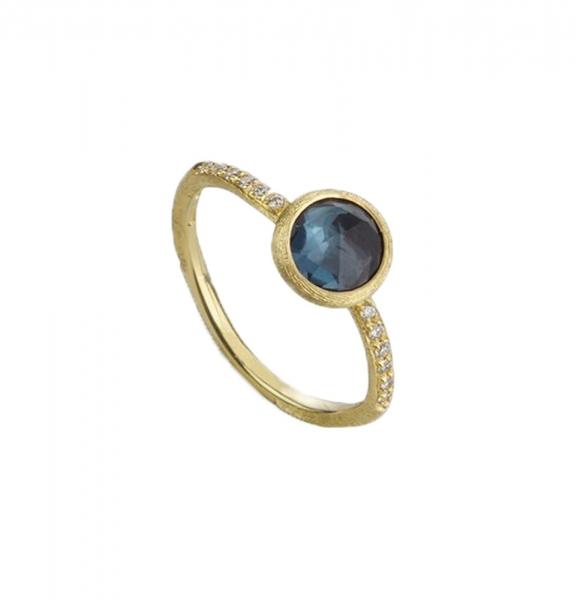 Marco Bicego Ring Gold mit blauem London-Topas & Diamanten aipur AB471-B-TPL01 | UHREN01