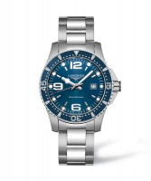 Longines HydroConquest Quarz Herrenuhr 39mm mit blauem Zifferblatt L3.730.4.96.6