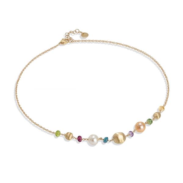Marco Bicego Halskette Africa Color Gold mit Perlen & Edelsteinen CB2323-PL MIX02 Y