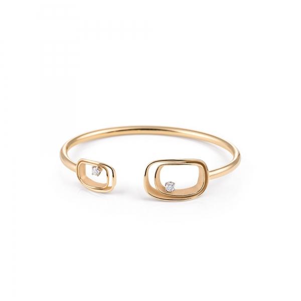 Annamaria Cammilli Armband 18 Karat Orange Apricot Gold & Diamanten Armspange Serie Uno GBR2791J | UHREN01