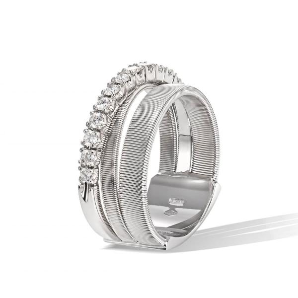 Marco Bicego Ring Masai Weißgold mit Diamanten AG329 B1 W