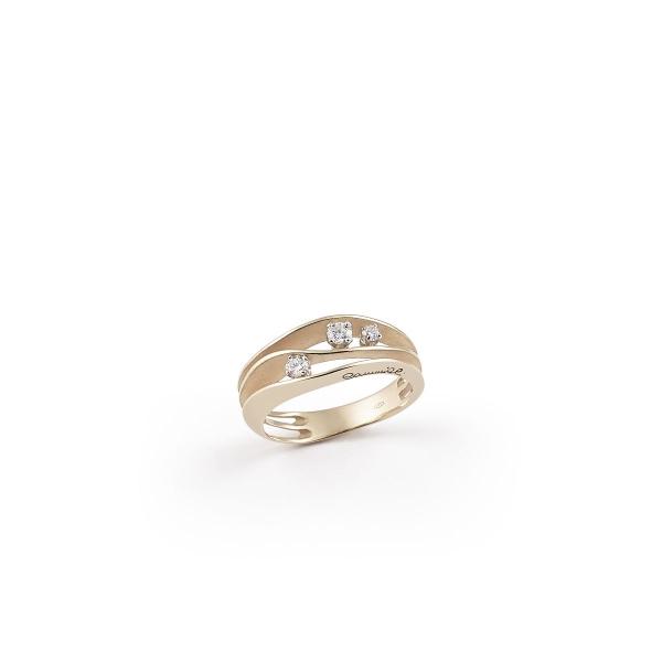 Annamaria Cammilli Ring Dune Natural Beige Gold und 3 Diamanten GAN2662N | UHREN01