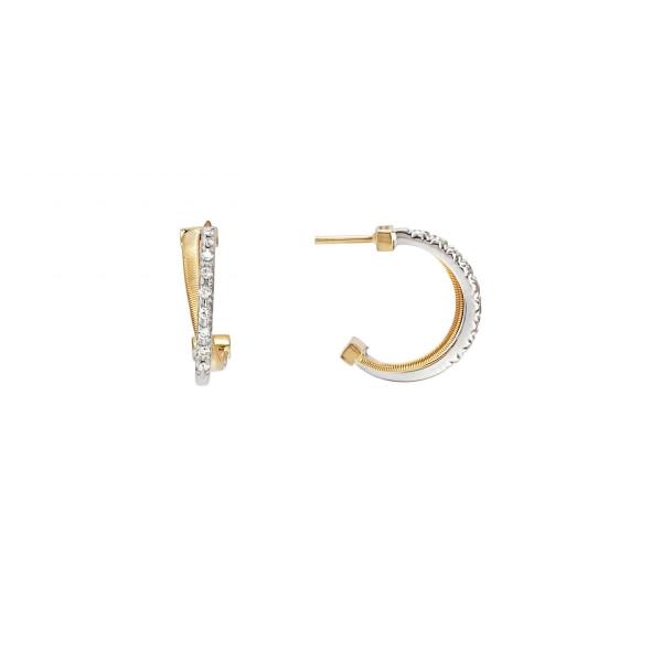 Marco Bicego Ohrringe Gold Diamanten 18 Karat Goa OG331 B YW