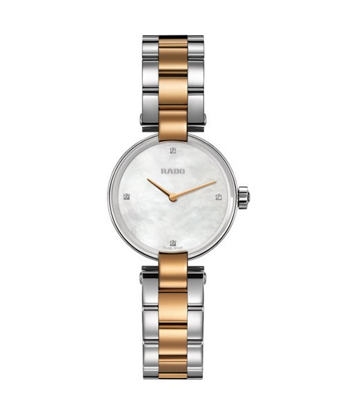 Rado Coupole S 27mm Damenuhr mit 4 Diamanten in Bicolor (R22854913)