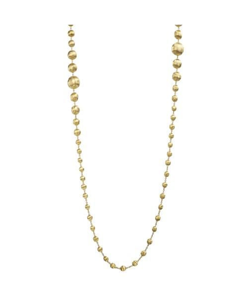 Marco Halskette Bicego Africa Collier mit Perlen aus Gold 18 Karat CB1417  | UHREN01