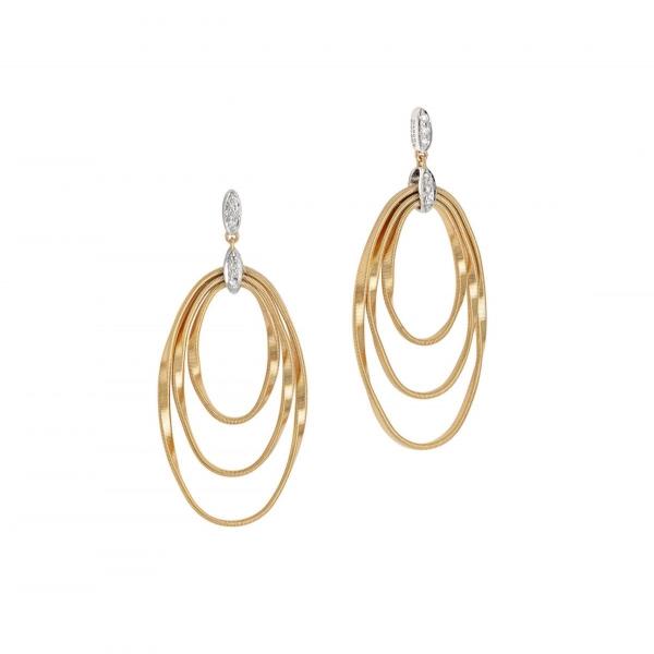 Marco Bicego Ohrringe Marrakech Onde Ohrhänger Gold & Diamanten OG373-B-YW
