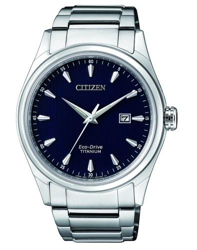Citizen Super Titanium Herrenuhr silber schwarz 41mm Eco-Drive BM7360-82L