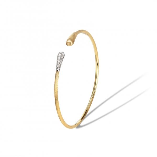 Marco Bicego Armband Lucia Offener Armreif aus Gold & Diamanten SB109-B-YW