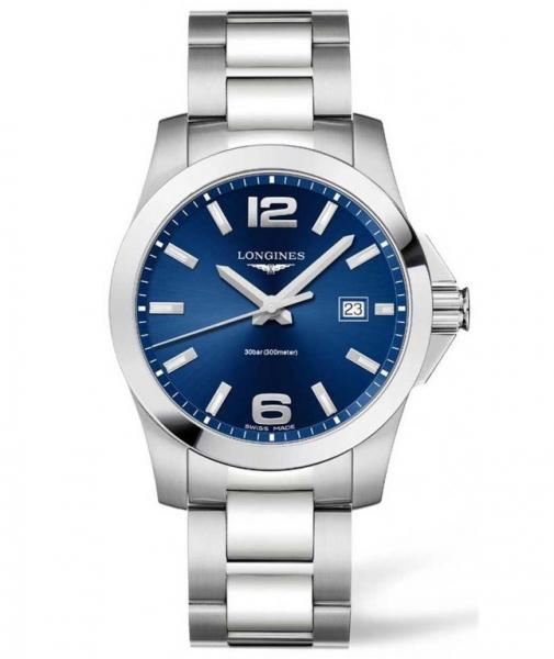Longines Conquest blau 41mm Quartz L3.759.4.76.6