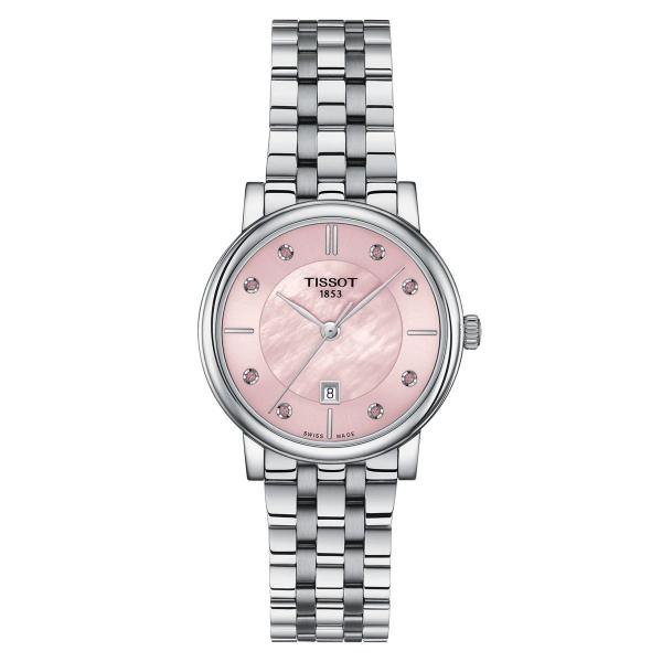 Tissot Carson Premium Lady Damenuhr Pink Perlmutt Edelstahl-Armband Quarz T122.210.11.159.00