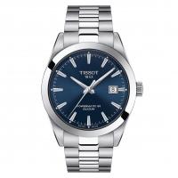 Tissot Gentleman Powermatic 80 Silicium Herre Uhr Blau mit Metallarmband 40mm T127.407.11.041.00 | UHREN01